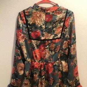 ASOS Dresses - ASOS Floral Ruffle Longsleeve Dress